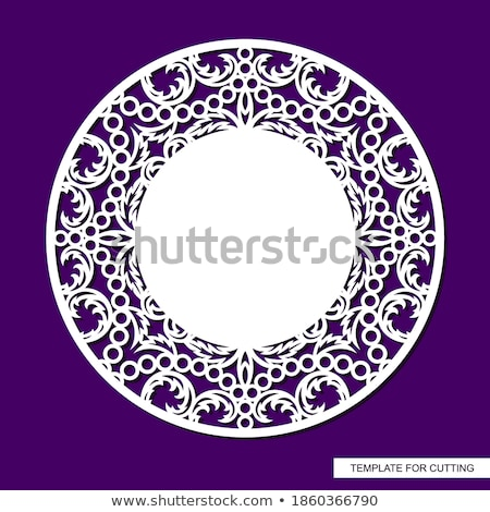 illustration of swirly floral background with sample text Stock photo © get4net