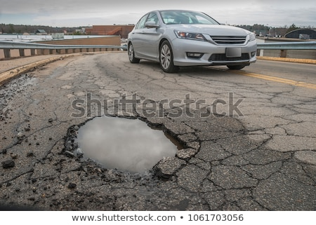 pothole city stock photo © psychoshadow