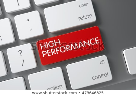 High Performance - Concept on Red Keyboard Button. Stock photo © tashatuvango