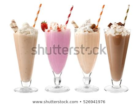 Foto d'archivio: Fragola · latte · party · ghiaccio · cocktail