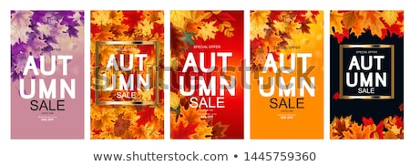 Stock photo: Autumn Designs Collection