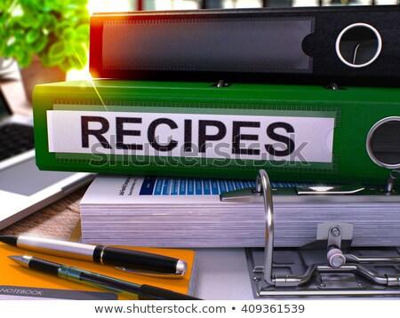 Recipes on Office Folder. Toned Image. Stock photo © tashatuvango