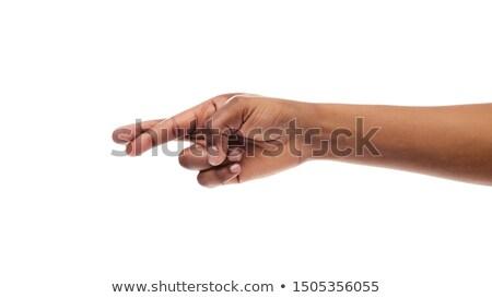 Cropped hand showing crossed fingers Stock photo © wavebreak_media