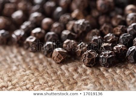 Feketebors sekély mélységélesség fakanál Stock fotó © danielgilbey