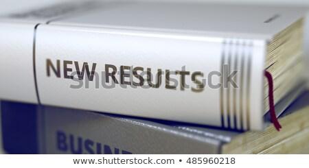 Business boek titel nieuwe resultaten 3D Stockfoto © tashatuvango