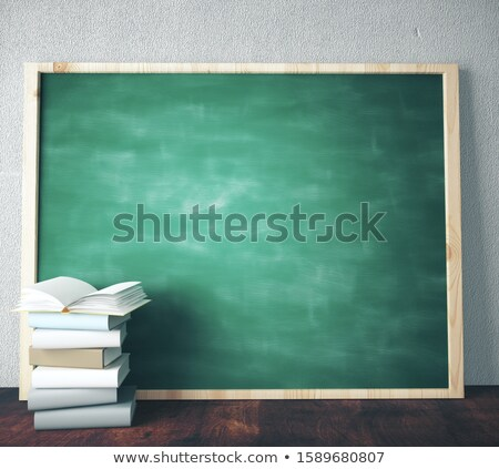 Stock photo: Black Chalkboard with Business Innovation. 3D Rendering.