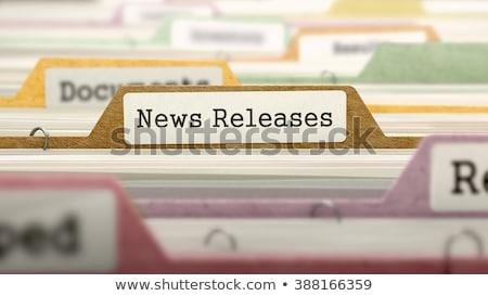 File Folder Labeled as News Releases. Stock photo © tashatuvango