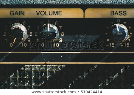 Old guitar and amplifier stock photo © tracer