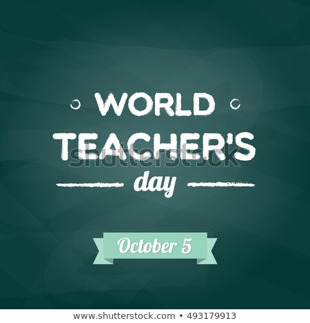 Mundo profesores día calendario tarjeta de felicitación vacaciones Foto stock © Olena