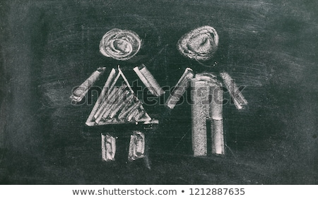 hand drawn information on green chalkboard stock photo © tashatuvango