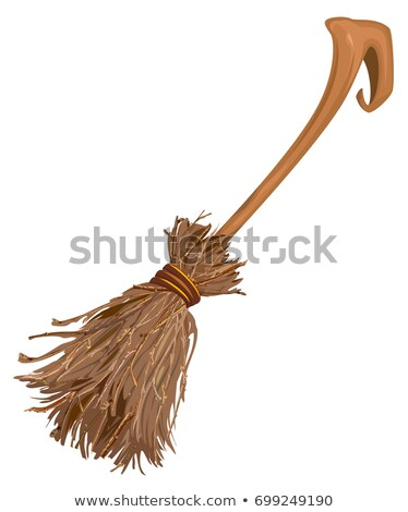 Old broom witchs with long handle. Accessory for Halloween Stock photo © orensila