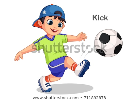молодые мужчины футболист мяча Футбол спорт Сток-фото © IS2