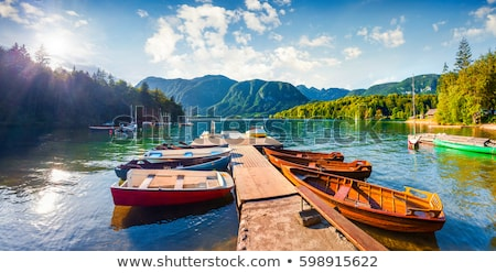 Touristic boat at beautiful Bohinj lake Stock photo © stevanovicigor