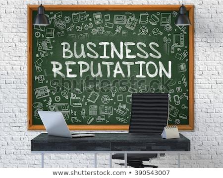 Business Reputation on White Brick Wall. Stock photo © tashatuvango