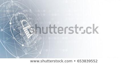Segurança de dados botão chave teclado preto palavras Foto stock © tashatuvango