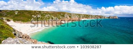 Panoramica view spiaggia cornwall cielo acqua Foto d'archivio © latent