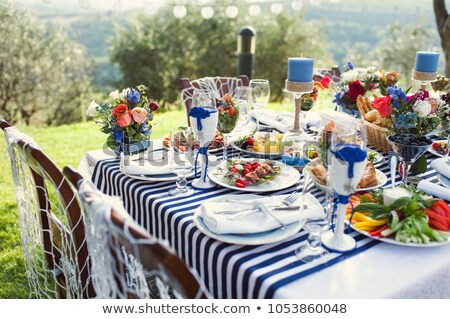 Seafood table setting Stock photo © fotogal