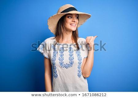 kobieta · ul · fryzura · śmiechem · twarz - zdjęcia stock © feedough