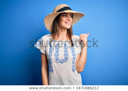 laughing young beautiful woman looking away Stock photo © feedough