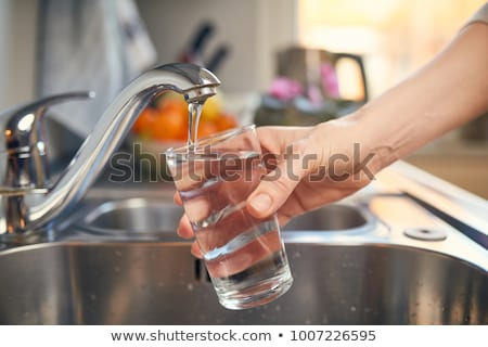 Tap water in the glass Stock photo © bluering