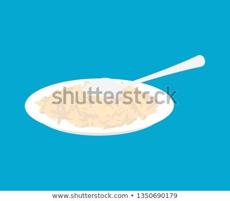 Arroz prato colher isolado saudável alimentação saudável Foto stock © MaryValery