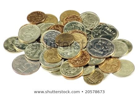 Plata monedas primer plano dinero financieros Foto stock © pakete