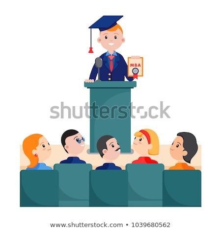 Graduate giving speech Stock photo © IS2