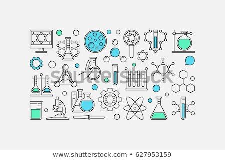 химии тонкий баннер линия иконки научный Сток-фото © biv