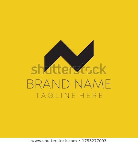 Stock photo: house logo with letter N sign. logo template