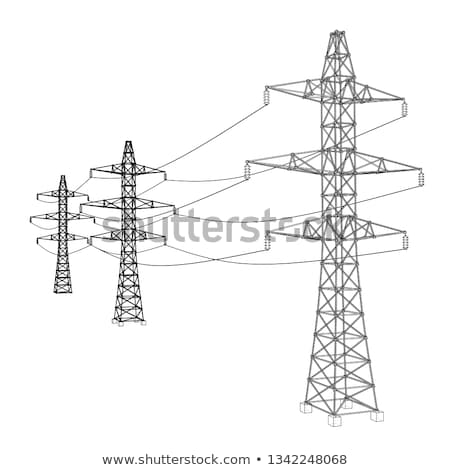 High voltage electric line Stock photo © 5xinc