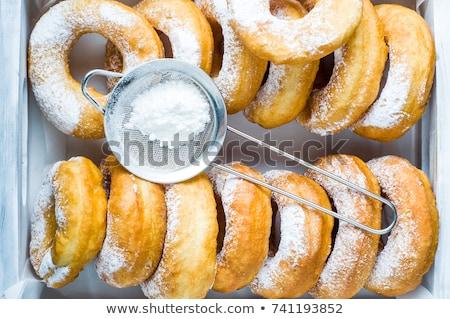 домашний сахар Кубок кофе сахарная пудра Сток-фото © Melnyk