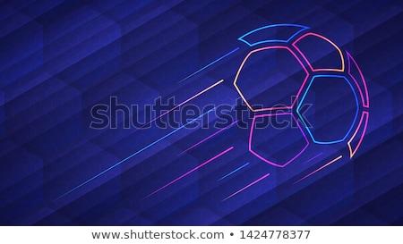 Футбол синий активный спорт футбола мяча Сток-фото © alexaldo