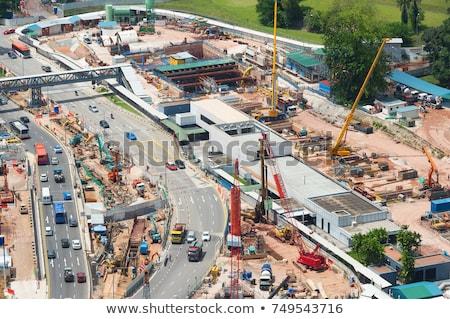 Szingapúr belváros építkezés tevékenység nappal iroda Stock fotó © joyr
