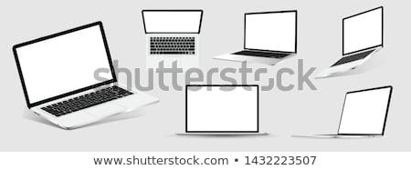 open laptop isometric icon isolated on white stock photo © orensila