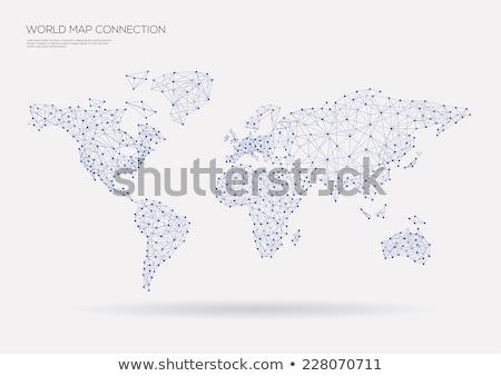 Mapa do mundo projeto abstrato geométrico cor ambiente Foto stock © articular