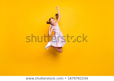 schoolgirl white success positive stock photo © toyotoyo