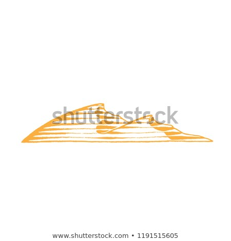 Yellow Vectorized Ink Sketch of Sand Dunes Illustration Stock photo © cidepix