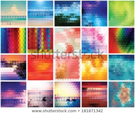 Gradiente triângulo grade abstrato fundo Foto stock © SwillSkill