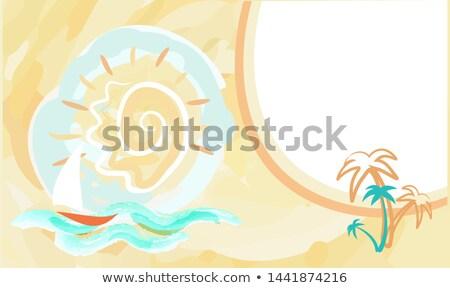 Foto stock: Caliente · verano · anunciante · resumen · cielo · velero
