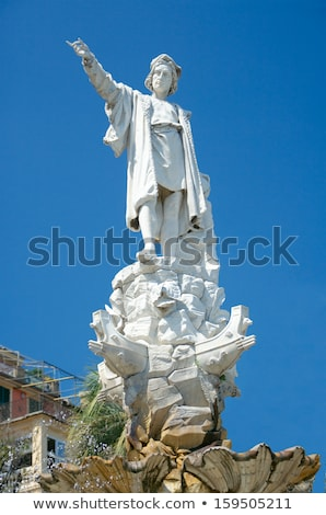 Monument to Christopher Columbus in Santa Margherita Ligure Stock photo © boggy