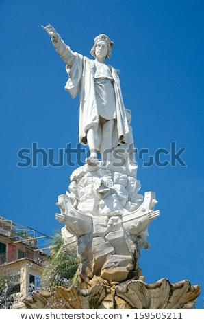 Monument to Christopher Columbus in Santa Margherita Ligure Stock photo © boggy