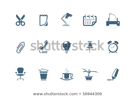 office chair and scissors set vector illustration stock photo © robuart