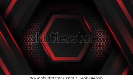 Kırmızı mavi altıgen çerçeve vektör Stok fotoğraf © blaskorizov