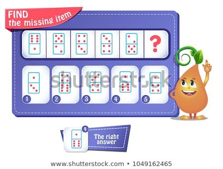 Jogo quebra-cabeça próximo crianças adultos Foto stock © Olena
