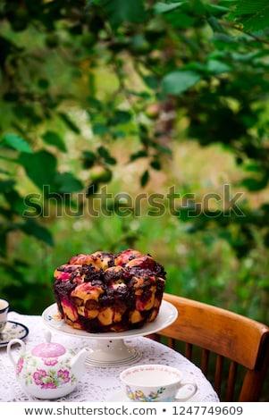 CHOCOLATE CHERRY PULL APART BREAD. Stock photo © zoryanchik