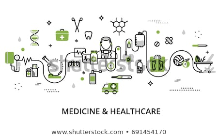 Colored stethoscope icon, medical equipment vector illustration Stock photo © MarySan