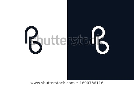 black letter p and b pb logo vector Stock photo © blaskorizov