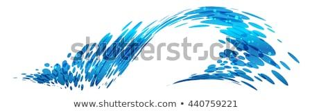 design element water wave blue illustration circle vector Stock photo © blaskorizov