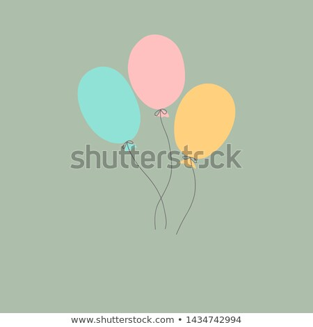 Background template with three balloons in sky Stock photo © colematt
