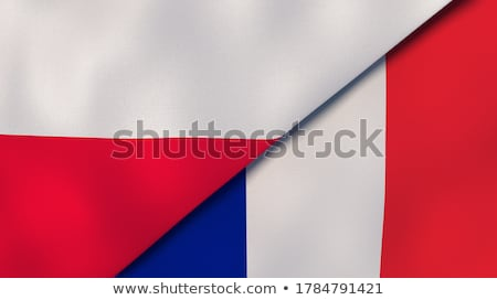 Twee vlaggen Frankrijk Polen geïsoleerd Stockfoto © MikhailMishchenko